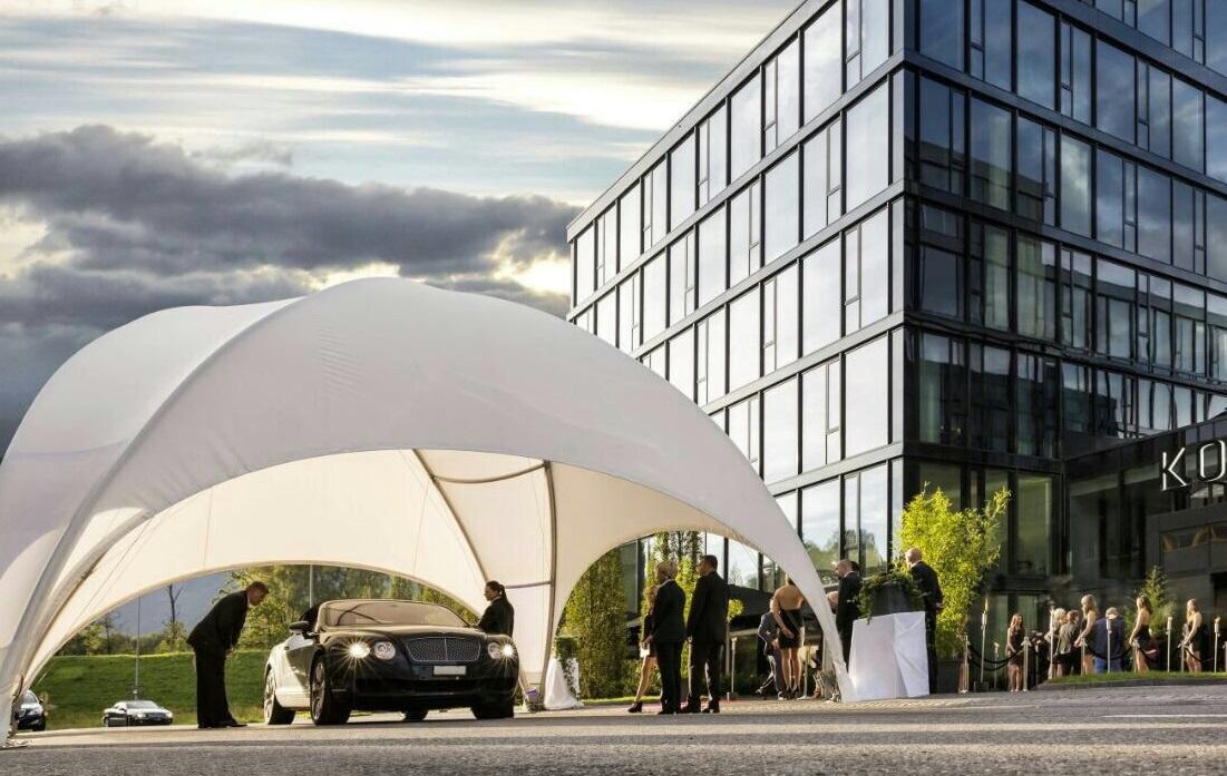 Tente dome crossover - Twist Events - Location et vente tentes de réception stretch, mobilier événementiel - Genève Vaud Suisse Romande