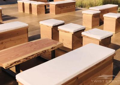 Twist Events - Location tentes de réception stretch et mobilier bois massif champêtre -  Evénement Genève Vaud Suisse Romande