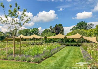 Twist Events - Location double tente de reception stretch M - Garden Party - Corporate Entreprise Geneve Vaud Suisse Romande