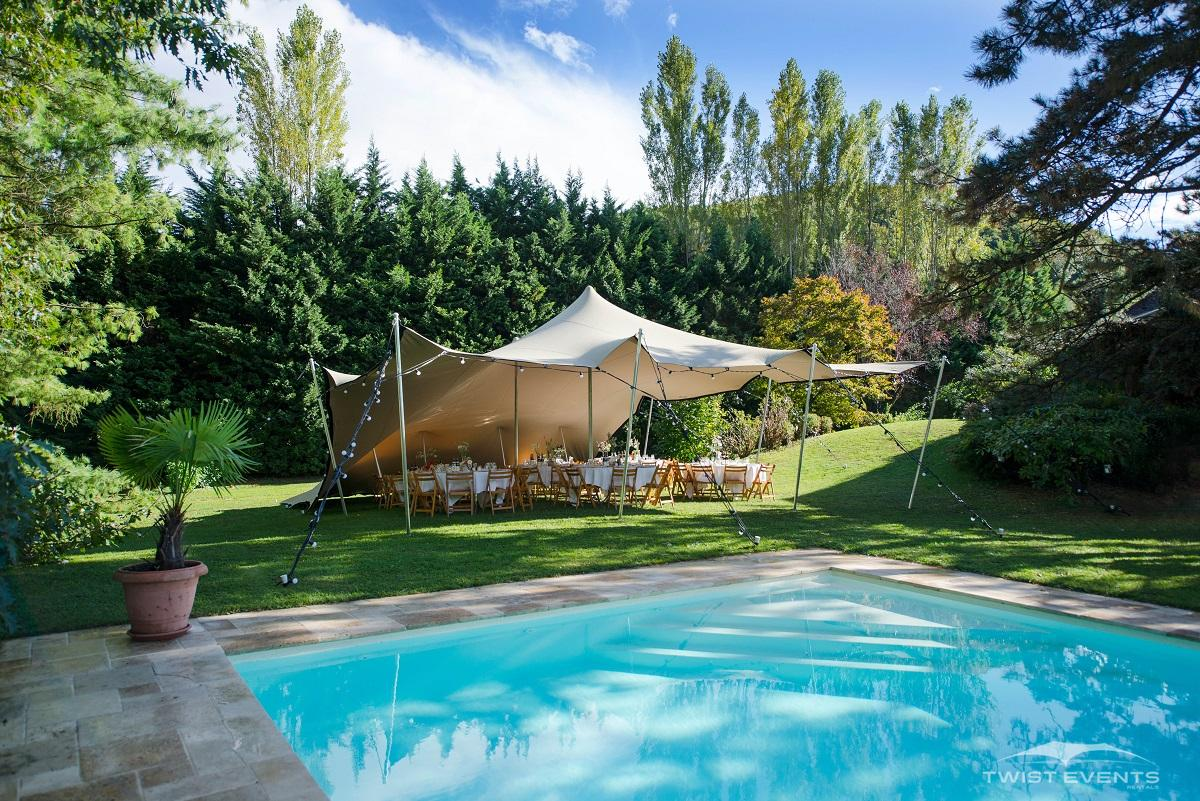 Twist Events - Location tente stretch S, mobilier, guirlandes lumineuses - Réception privée Geneve Vaud Suisse Romande