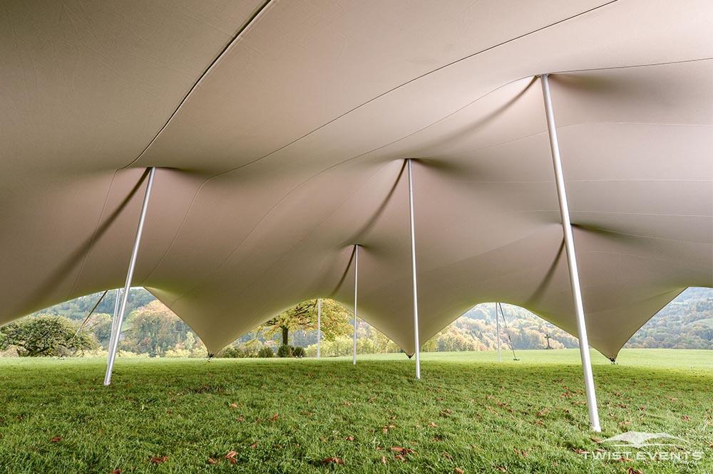 Tente stretch arachnide - Twist Events - Location et vente tentes de réception stretch, mobilier événementiel - Genève Vaud Suisse Romande