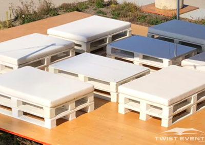 Twist Events - Location tentes de réception stretch et mobilier lounge design palettes -  Evénement Genève Vaud Suisse Romande