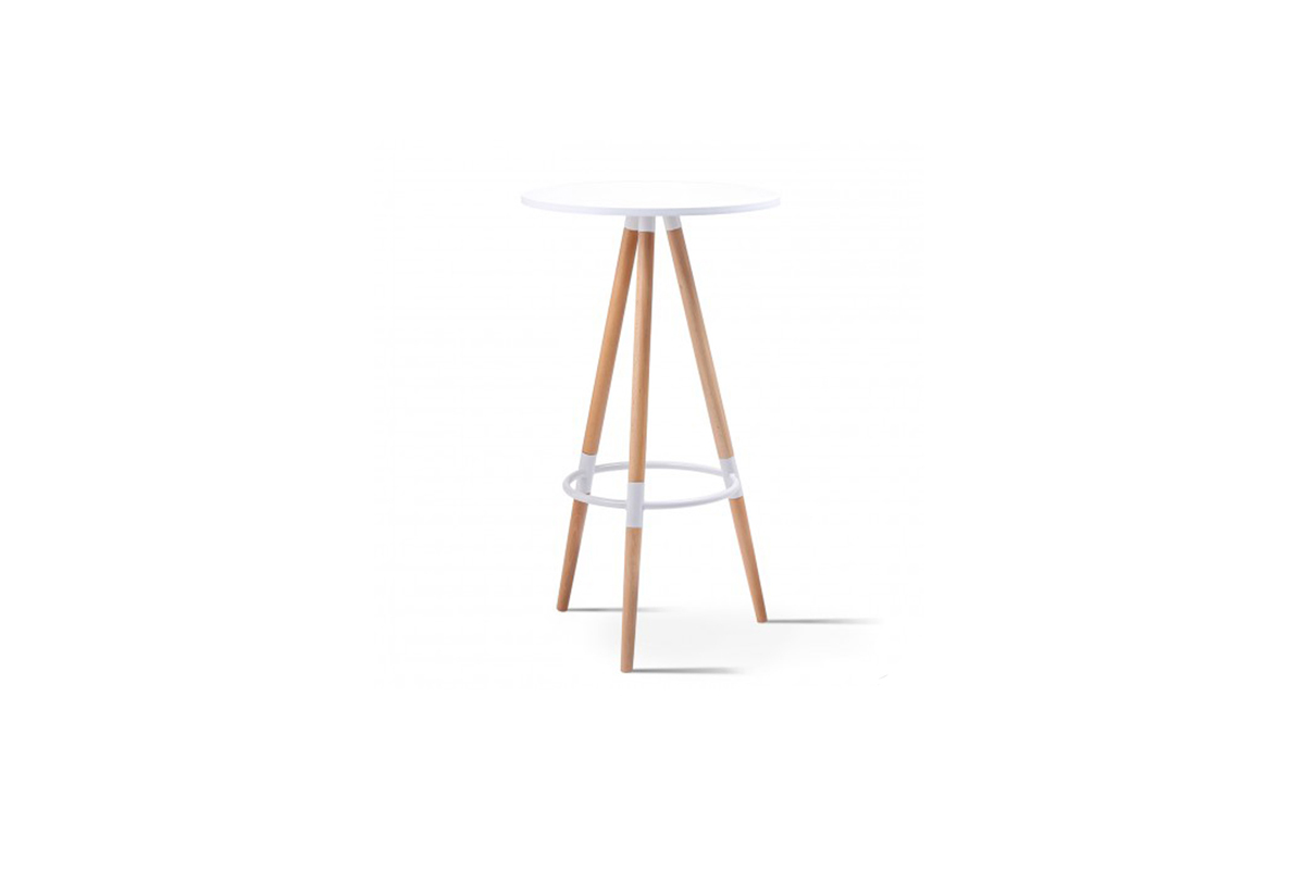 Table haute scandinave - Location mobilier de cocktail - Canton Geneve Vaud Suisse Romande