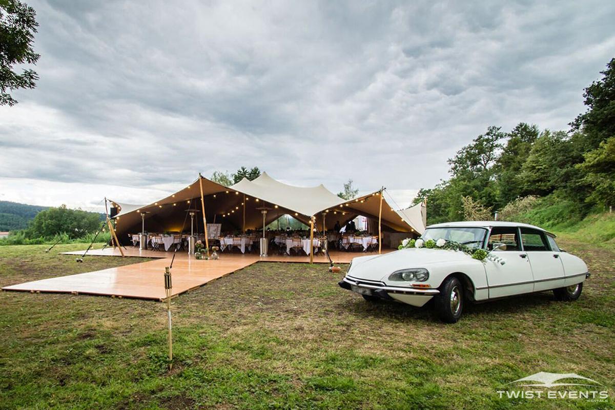 Location tente stretch arachnide 314m2 mariage champetre a geneve et en suisse romande