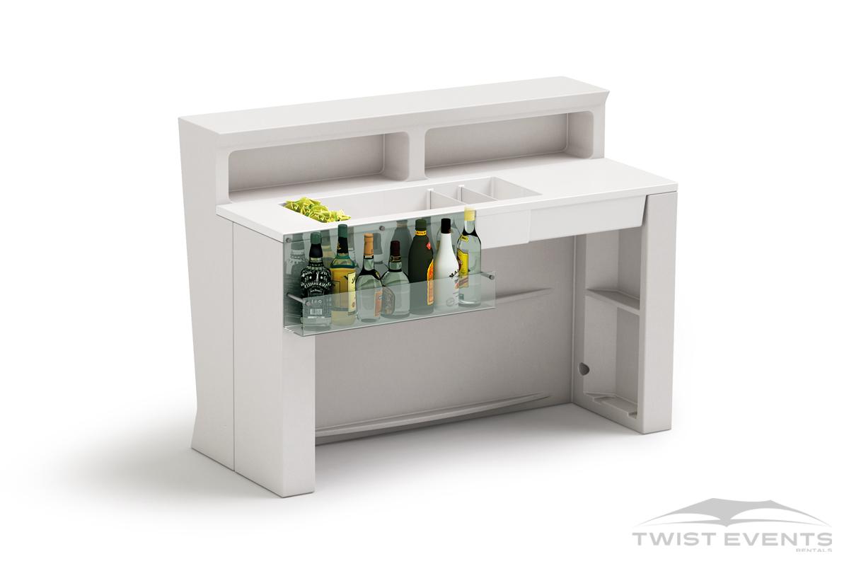 Location bar droit lumineux design - vue back - Evenement Geneve Suisse - Twist Events W