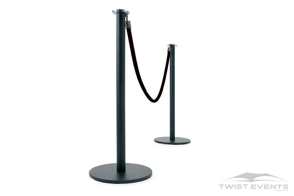 Location potelet design noir evenement prive et professionnel geneve Twist Events W