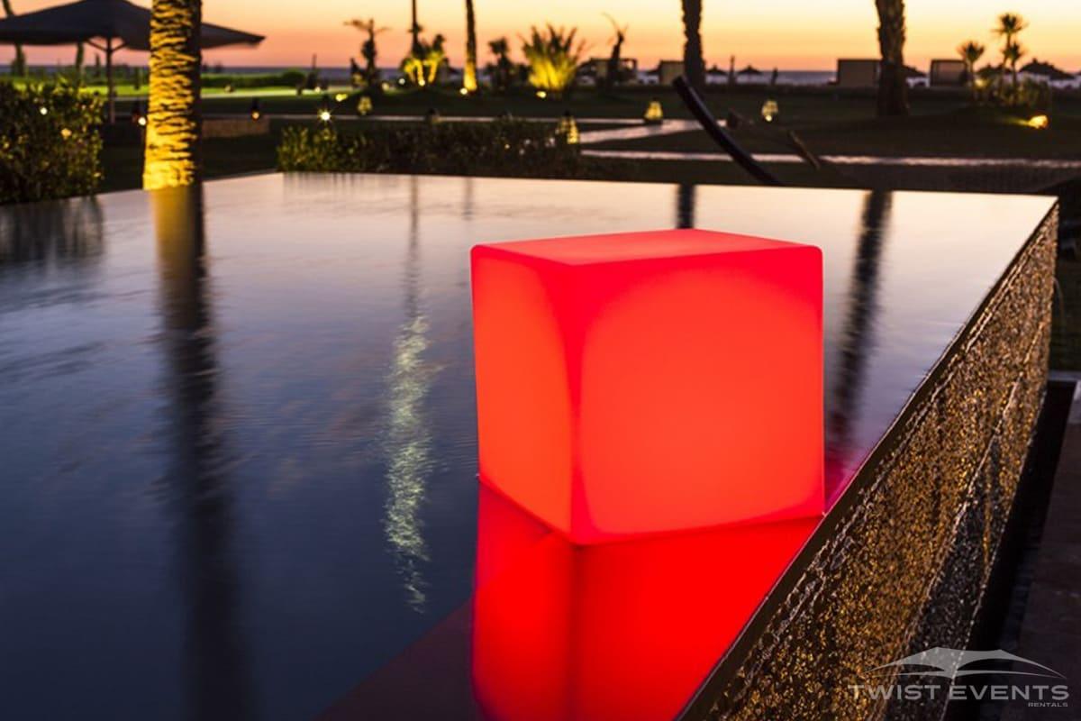 Cube lumineux - Location table lumineuse et mobilier lounge - Geneve Vaud Suisse Romande