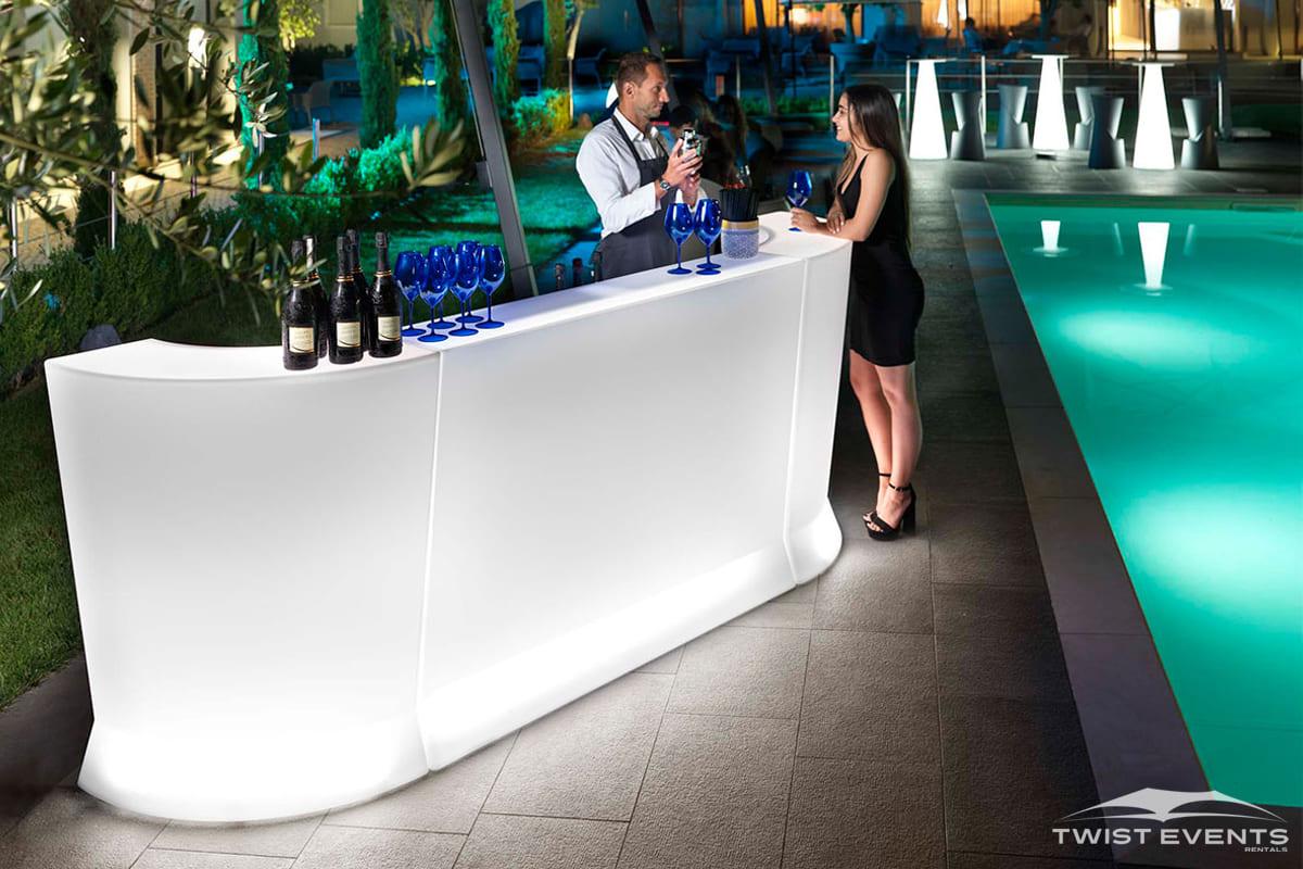 Location bar lumineux design - Evenement Geneve Suisse - Twist Events W