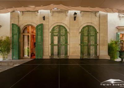Location tente de reception stretch L 315 m2 mobilier en bois guirlandes evenement prive geneve suisse (6)