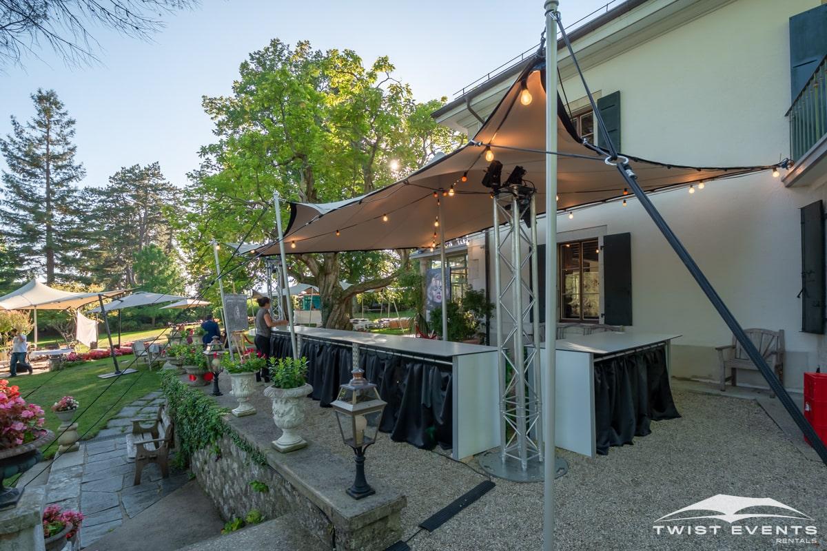 Location tentes de reception stretch et mobilier lounge - evenement d'entreprise - Twist Events - Geneve et Romandie (12)-min