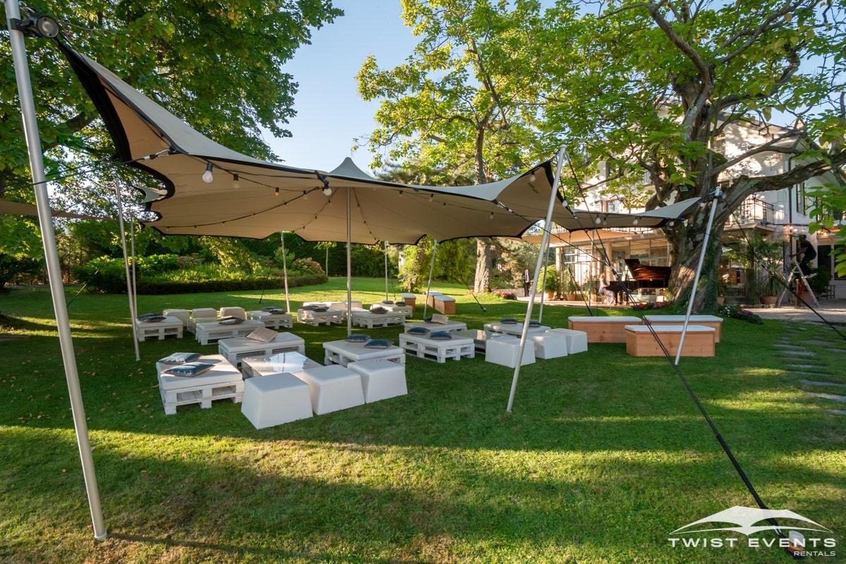 Location tentes de reception stretch et mobilier lounge - evenement d'entreprise - Twist Events - Geneve et Romandie (16)-min