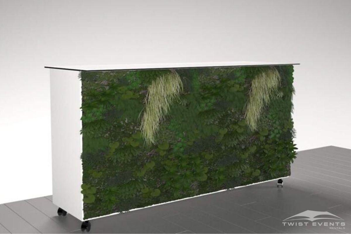 Buffet personnalisable blanc facade vegetale - Location mobilier reception evenement www.twist-events.ch (4)