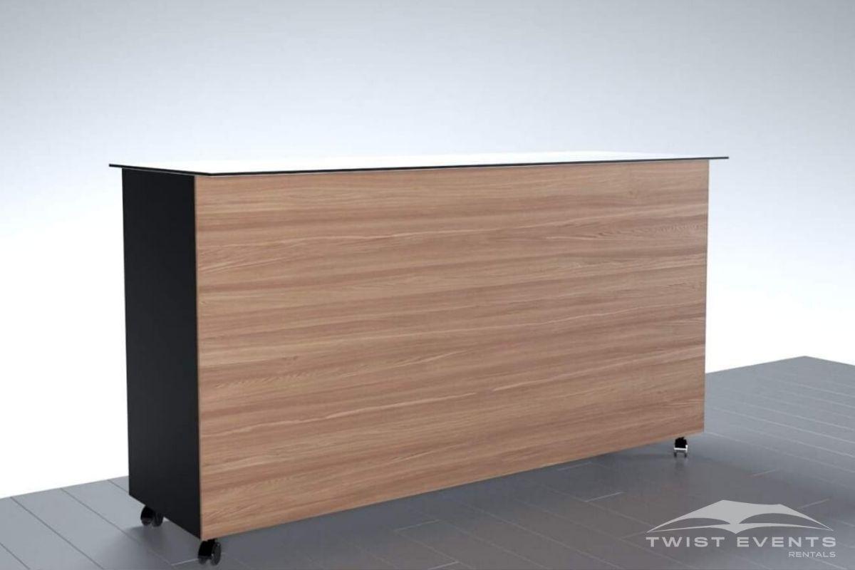 Buffet personnalisable noir blanc bois - Location mobilier reception evenement www.twist-events.ch (14)