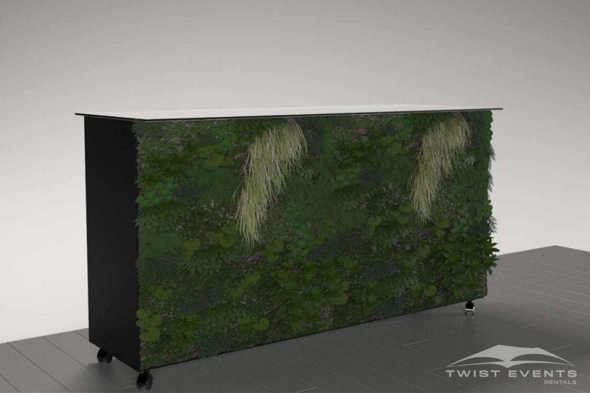 Buffet personnalisable noir facafe vegetale - Location mobilier reception evenement www.twist-events.ch (17)