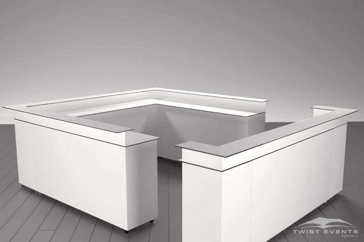 Ensemble bar personnalisable blanc carré - Location mobilier - www (1)